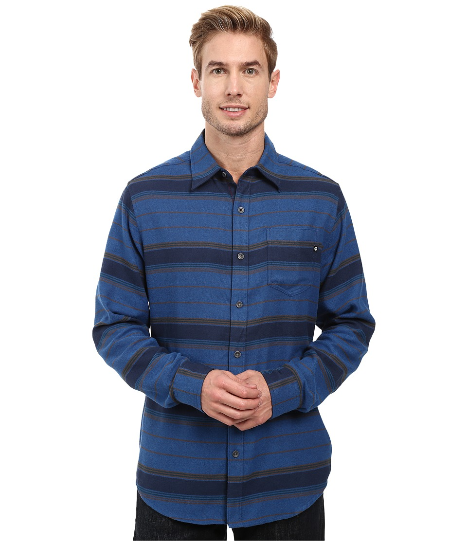 Marmot - Enfield Flannel Long Sleeve Shirt (Vintange Navy Heather) Men's Clothing
