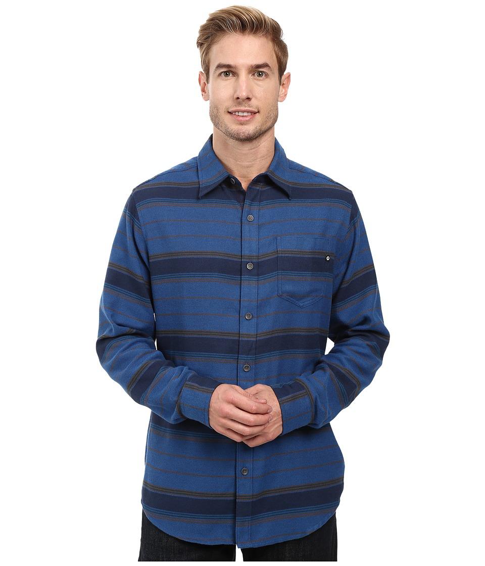 Marmot - Enfield Flannel Long Sleeve Shirt (Vintange Navy Heather) Men's Clothing