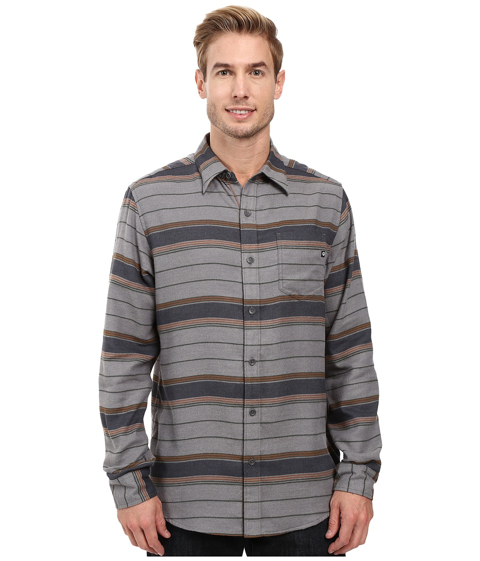 Marmot - Enfield Flannel Long Sleeve Shirt (Steel Heather) Men's Clothing