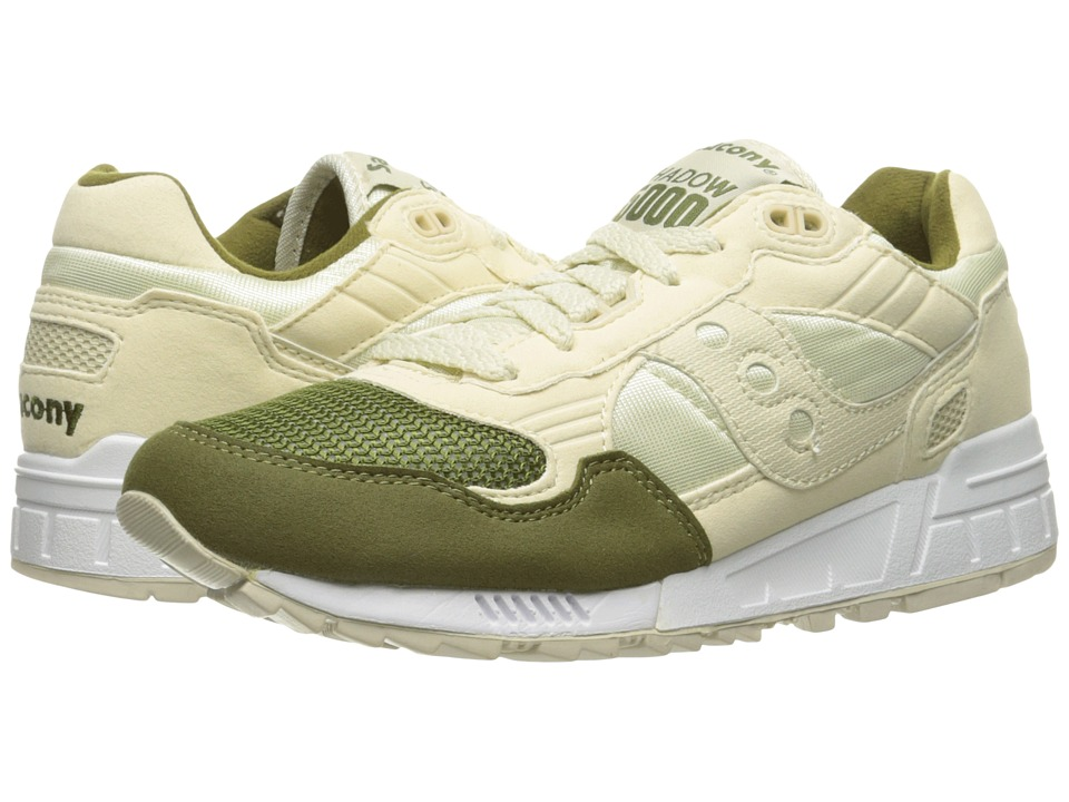 Saucony Originals - Shadow 5000 (Cream/Green) Men's Classic Shoes