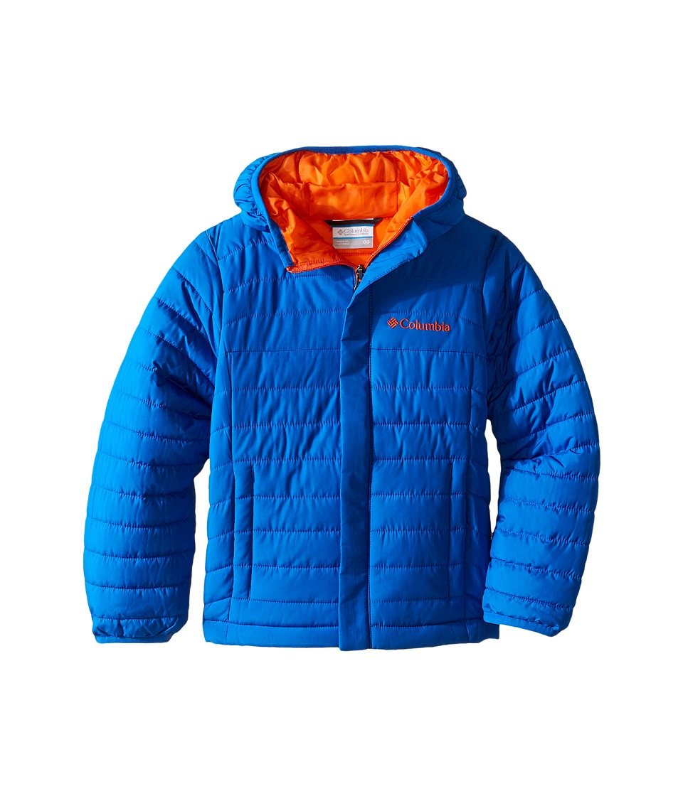 Columbia Kids - Powder Lite Puffer (Little Kids/Big Kids) (Super Blue/Collegiate Navy) Boy's Coat