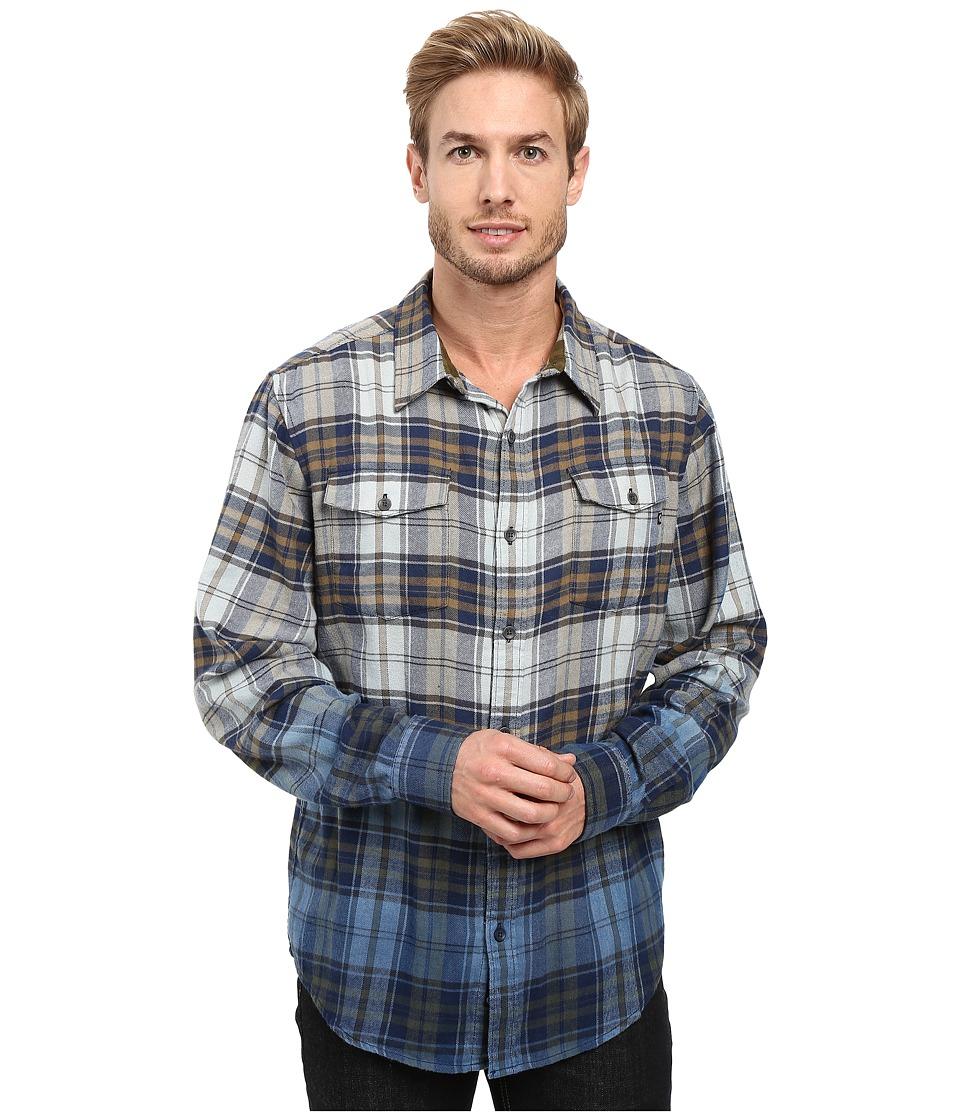Marmot - Dillon Flannel Long Sleeve Shirt (Vintage Navy) Men's Long Sleeve Button Up