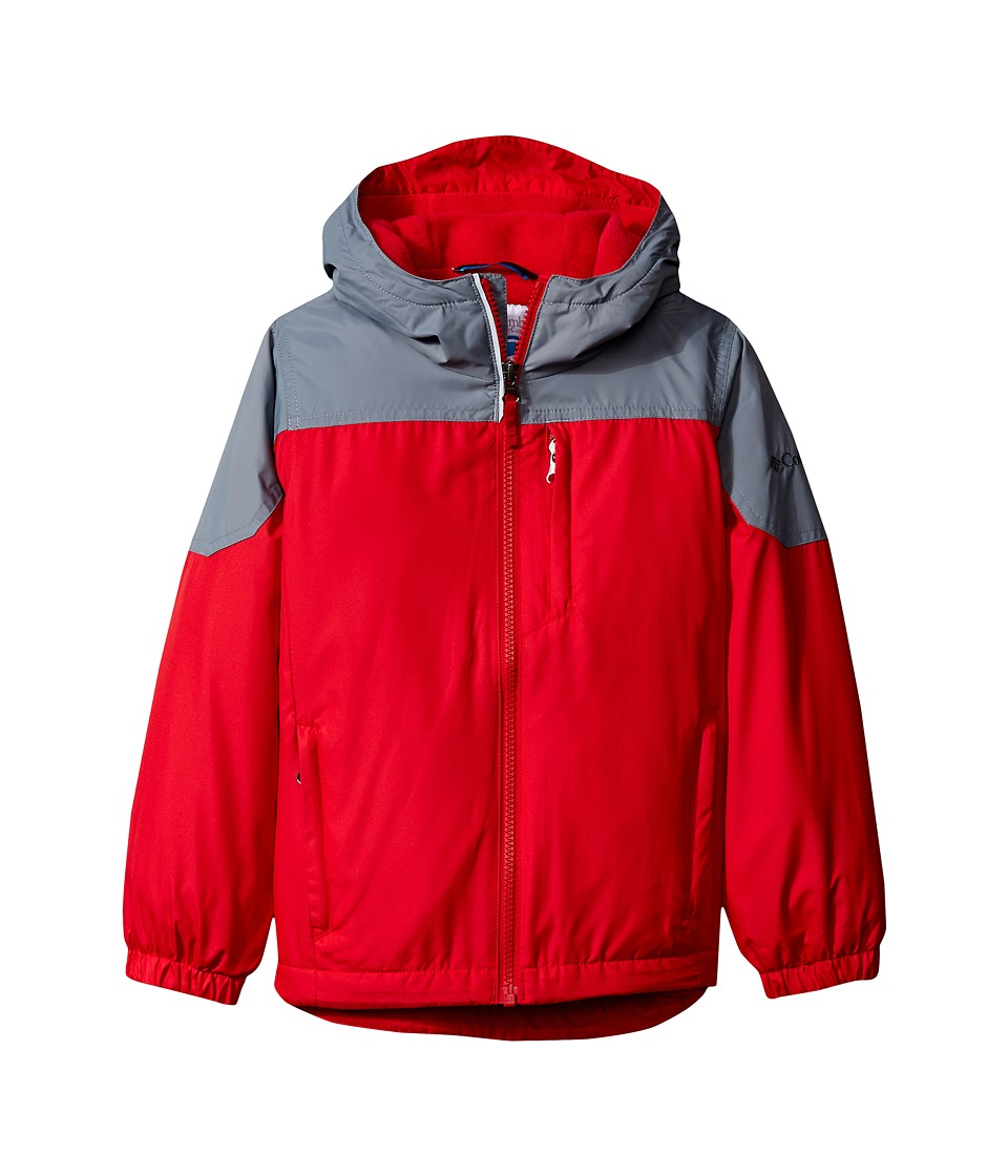 Columbia Kids - Ethan Pond Jacket (Little Kids/Big Kids) (Mountain Red/Grey Ash) Boy's Coat