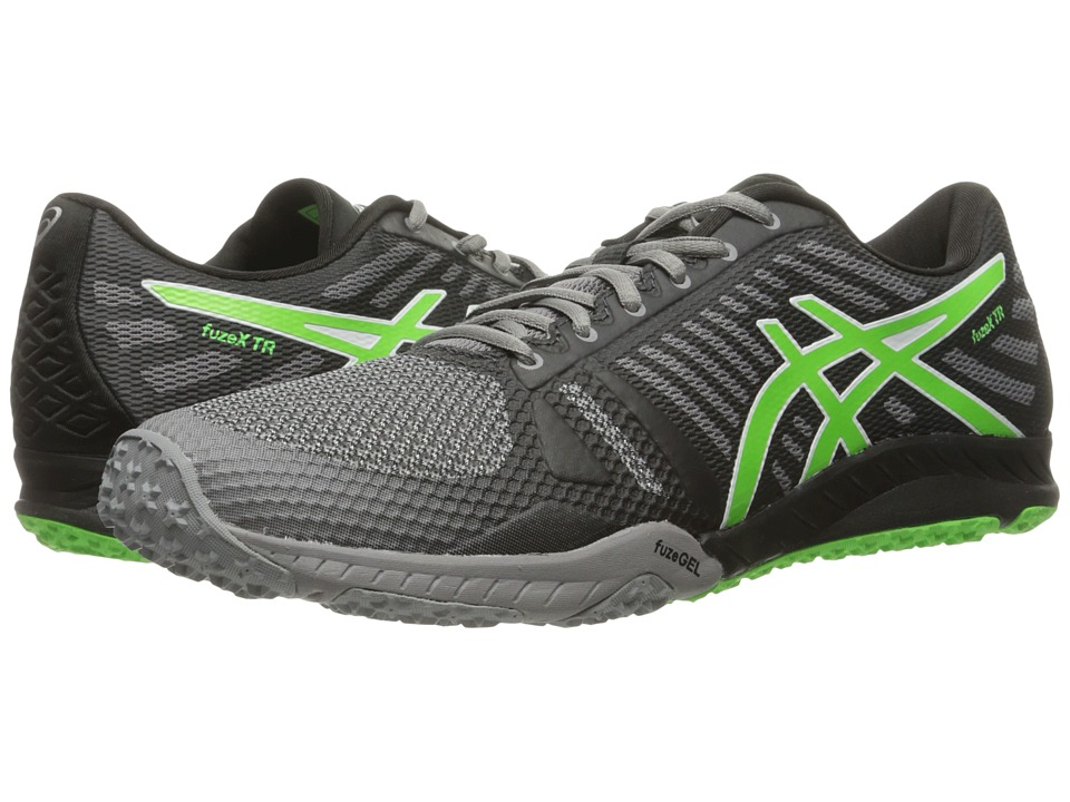 ASICS - FuzeX TR (Aluminum/Green Gecko/Black) Men's Cross Training Shoes