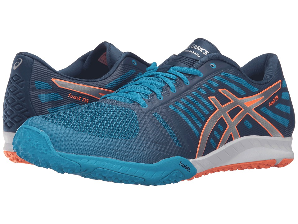ASICS FuzeX TR (Blue/Jewel/Silver/Hot Orange) Men's Cross Training Shoes