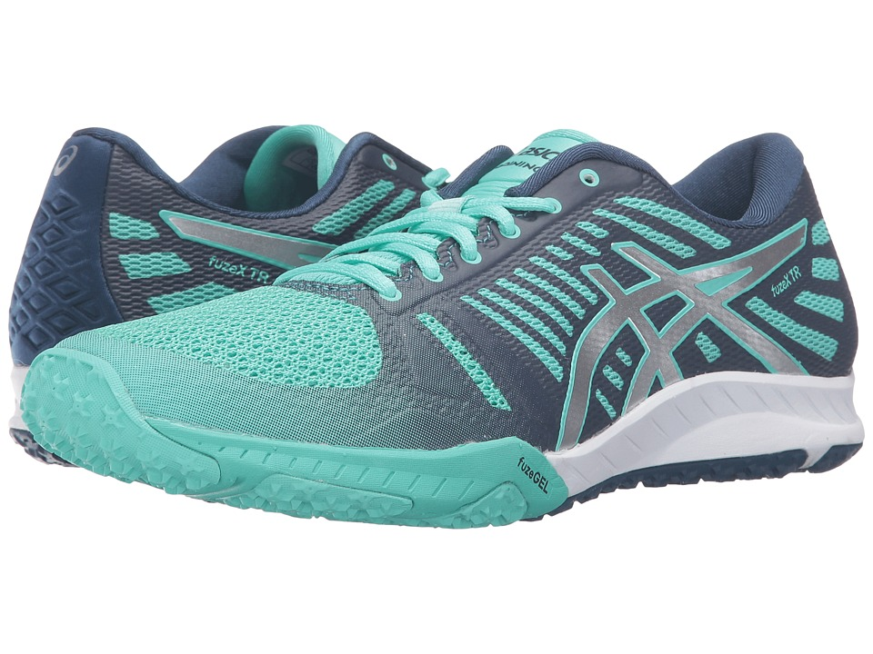 ASICS - FuzeX TR (Cockatoo/Silver/Poseidon) Women's Cross Training Shoes