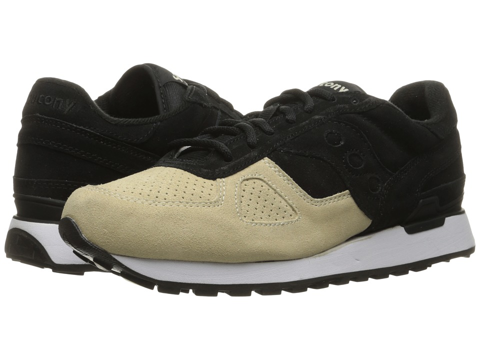 Saucony Originals - Shadow Original Suede (Black/Off-White) Men's Lace up casual Shoes