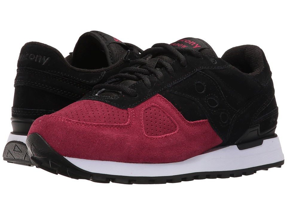 Saucony Originals - Shadow Original Suede (Black/Red) Men's Lace up casual Shoes