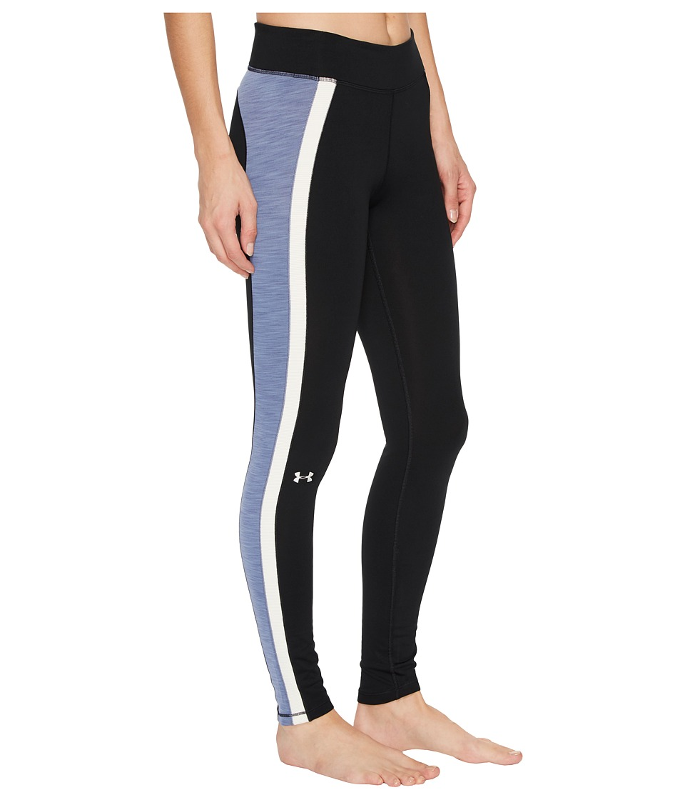 Under Armour - UA Coldgear(r) Armour Leggings (Black/Aurora Purple/Metallic Silver) Women's Casual Pants