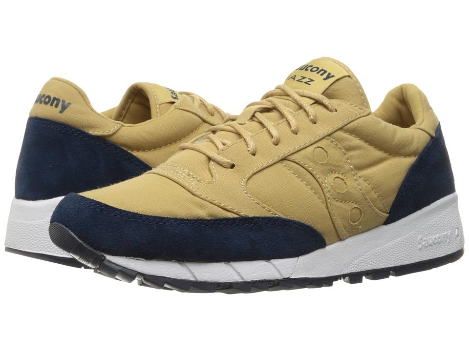 Saucony Originals - Jazz '91 (Tan/Blue) Men's Lace up casual Shoes