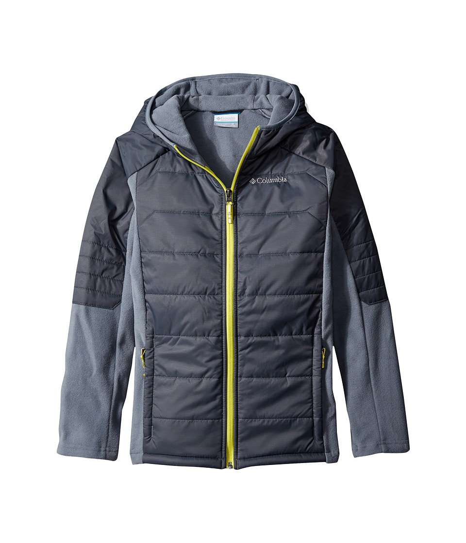 Columbia Kids - Fast Trek Hybrid (Little Kids/Big Kids) (Grey Ash/Graphite/Acid Yellow) Boy's Coat