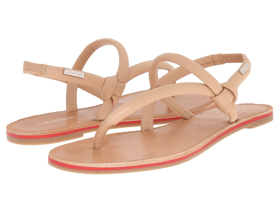 Calvin Klein - Alisia (Sandstorm Leather) Women's Sandals