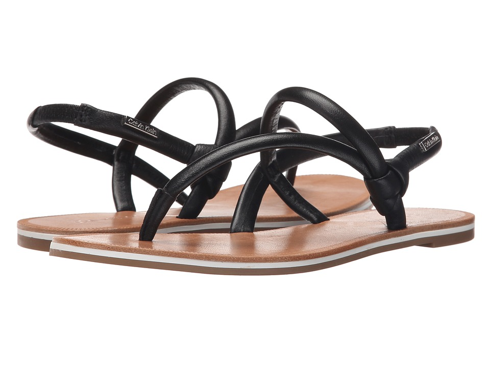 Calvin Klein - Alisia (Black Leather) Women's Sandals