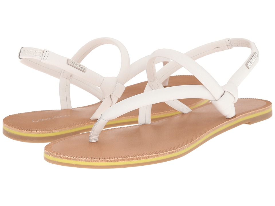 Calvin Klein Alisia (Platium White Leather) Women
