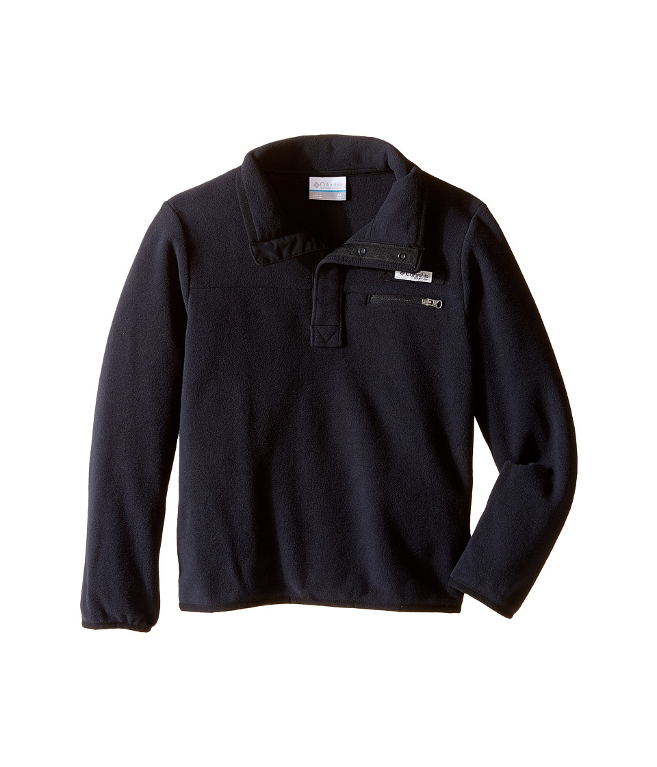 Columbia Kids - Harborside Fleece (Little Kids/Big Kids) (Black/Black) Boy's Long Sleeve Pullover