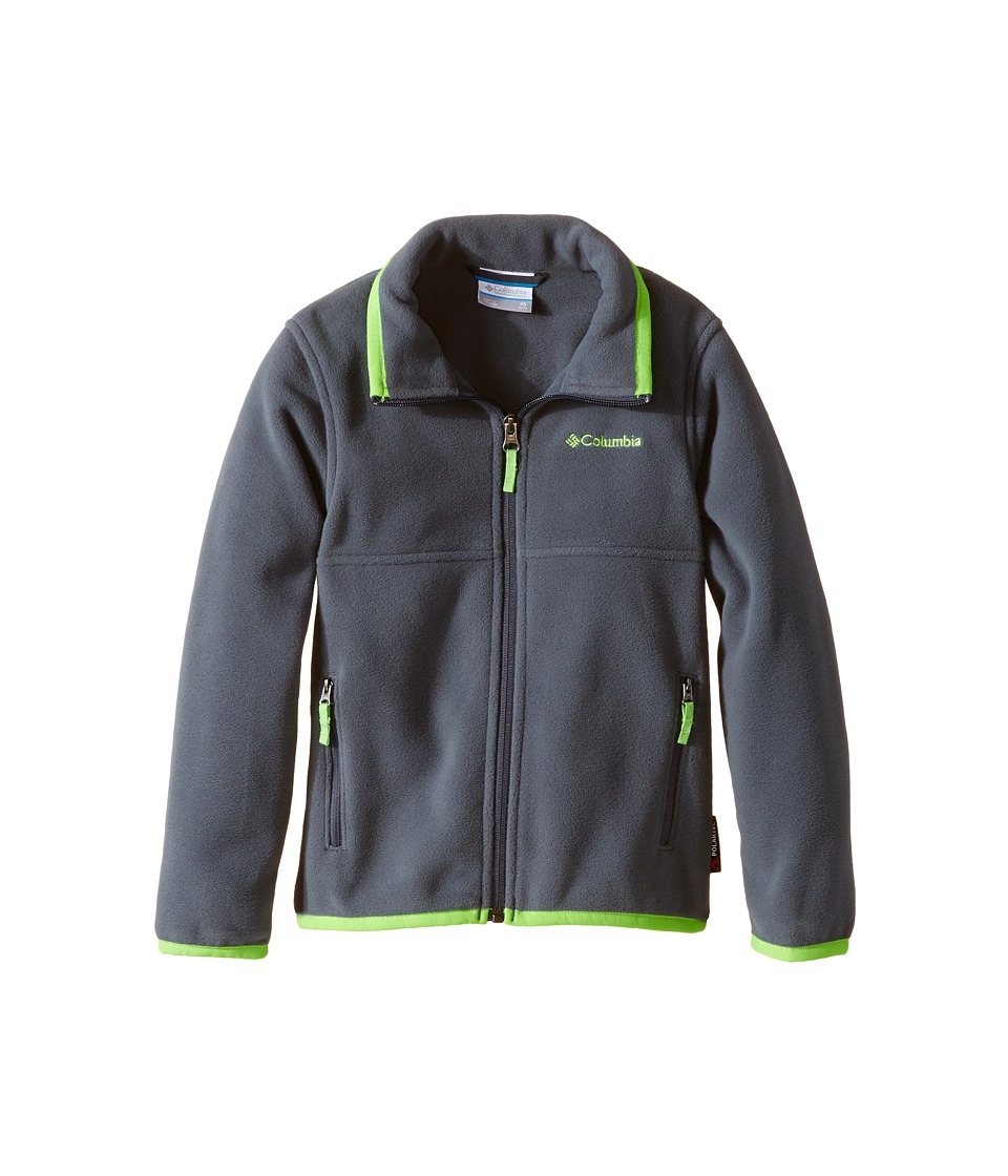 Columbia Kids - Fuller Ridge 2.0 Full Zip Fleece (Little Kids/Big Kids) (Graphite/Green Mamba) Boy's Long Sleeve Pullover