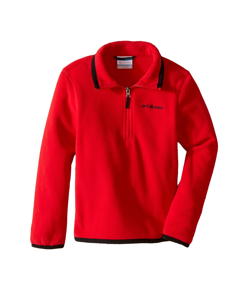 Columbia Kids - Ridge Repeat 1.0 Half Zip Fleece (Little Kids/Big Kids) (Mountain Red/Black) Boy's Long Sleeve Pullover