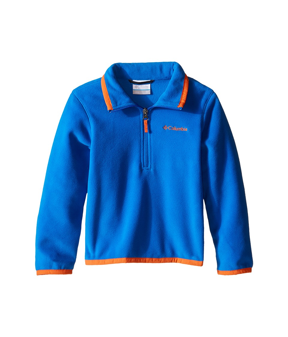 Columbia Kids - Ridge Repeat 1.0 Half Zip Fleece (Little Kids/Big Kids) (Super Blue/Tangy Orange) Boy's Long Sleeve Pullover
