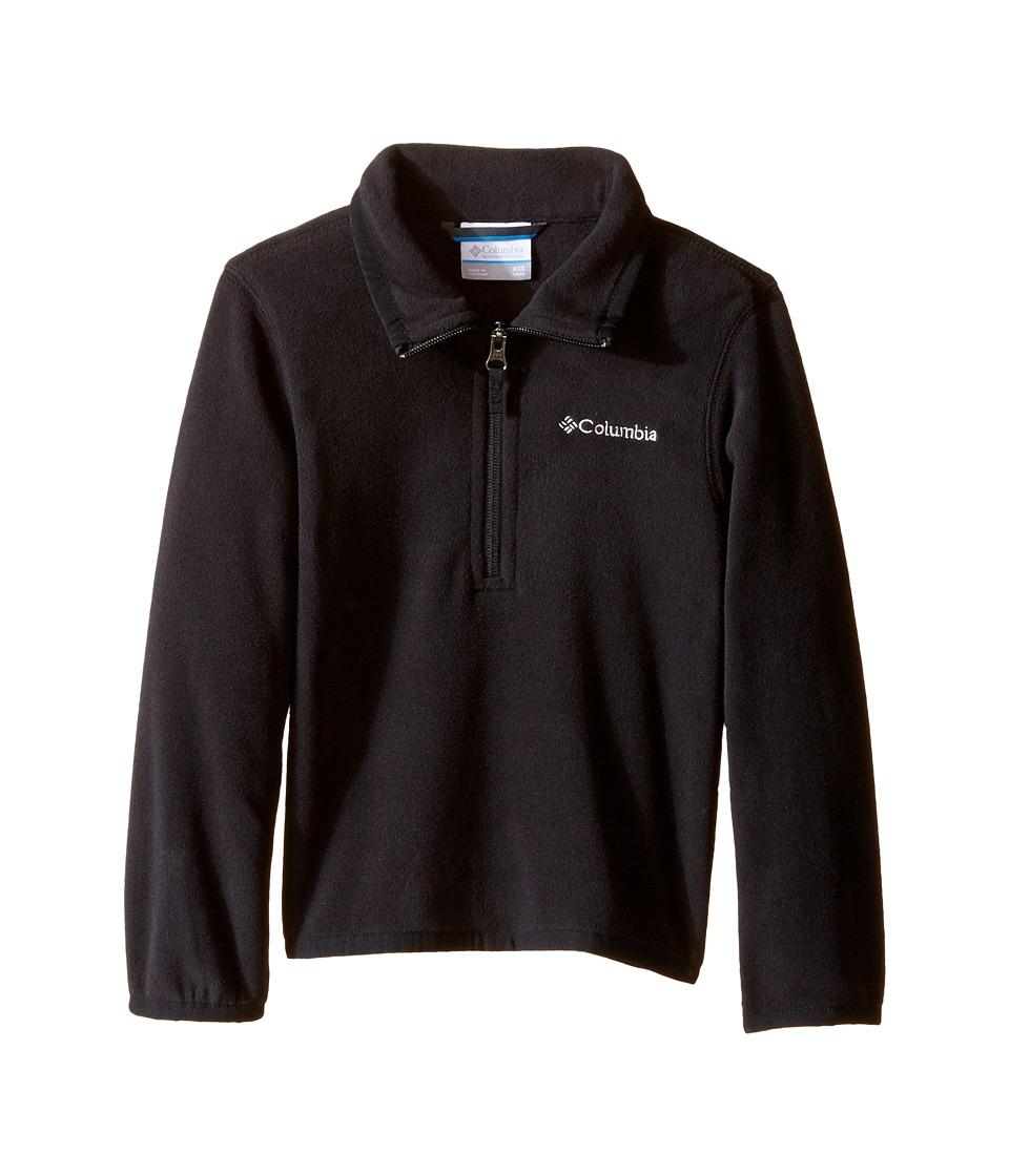 Columbia Kids - Ridge Repeat 1.0 Half Zip Fleece (Little Kids/Big Kids) (Black) Boy's Long Sleeve Pullover