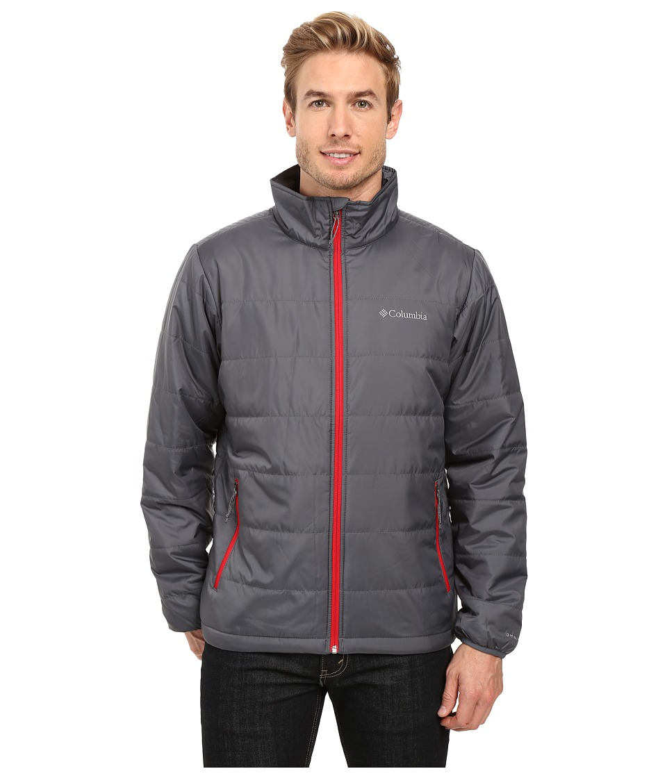 Columbia - Saddle Chutes Jacket (Graphite/Mountain Red) Men's Coat