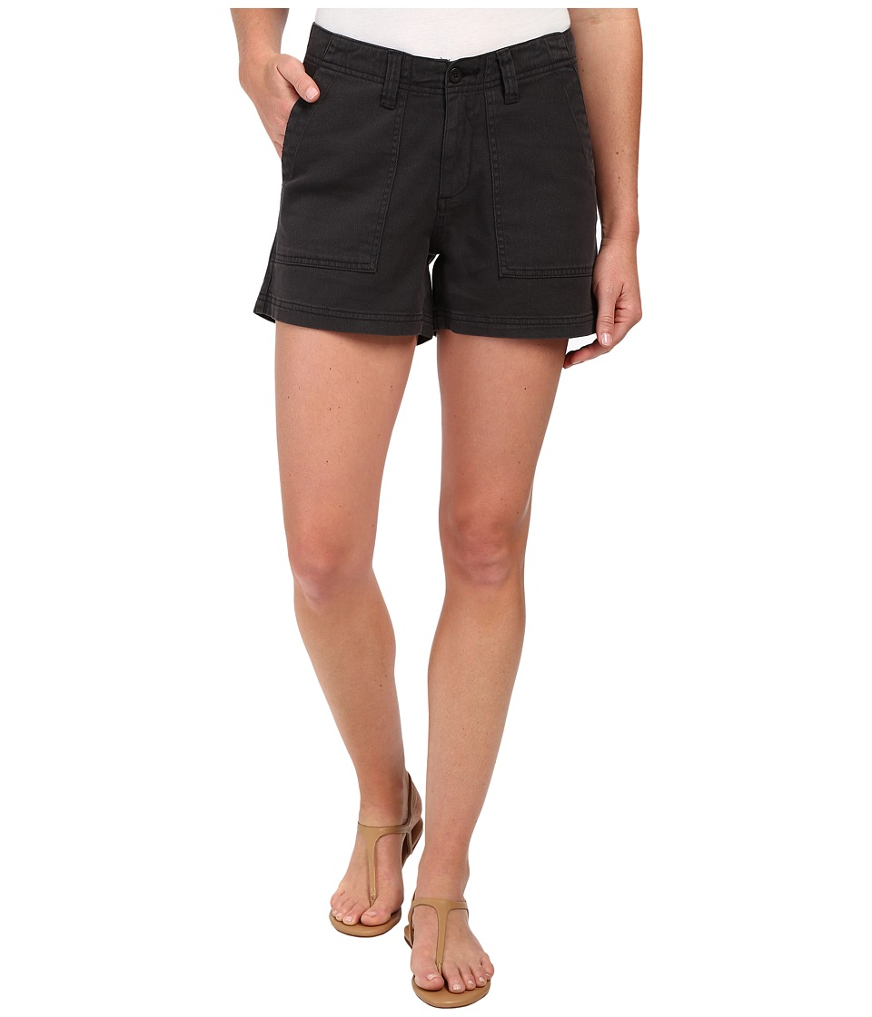 Dylan by True Grit - Effortless Stretch Cotton Classic Cargo Shorts (Vintage Black) Women