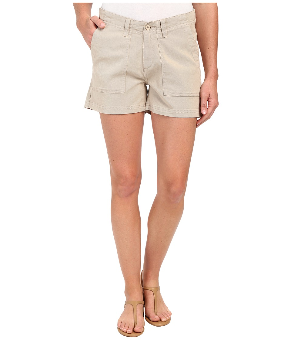 Dylan by True Grit - Effortless Stretch Cotton Classic Cargo Shorts (Vintage Khaki) Women's Shorts