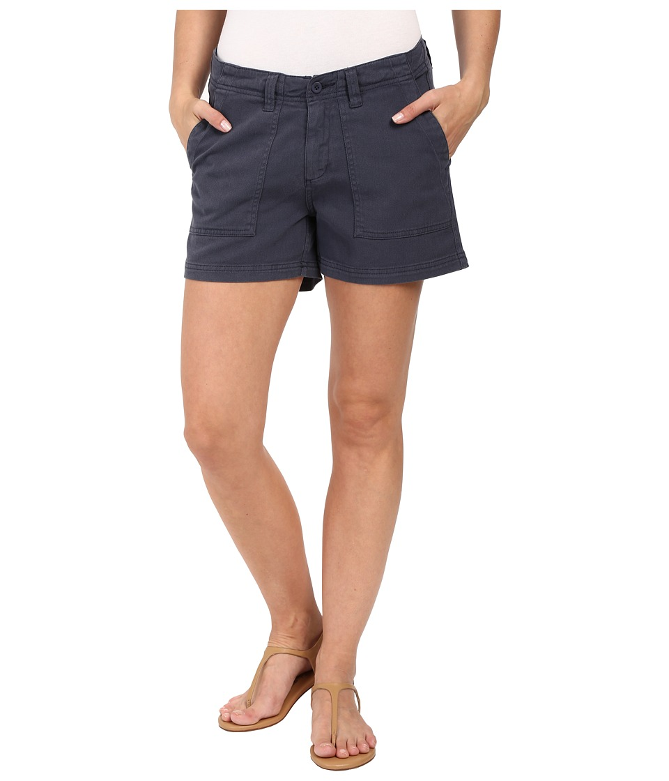 Dylan by True Grit - Effortless Stretch Cotton Classic Cargo Shorts (Navy) Women's Shorts
