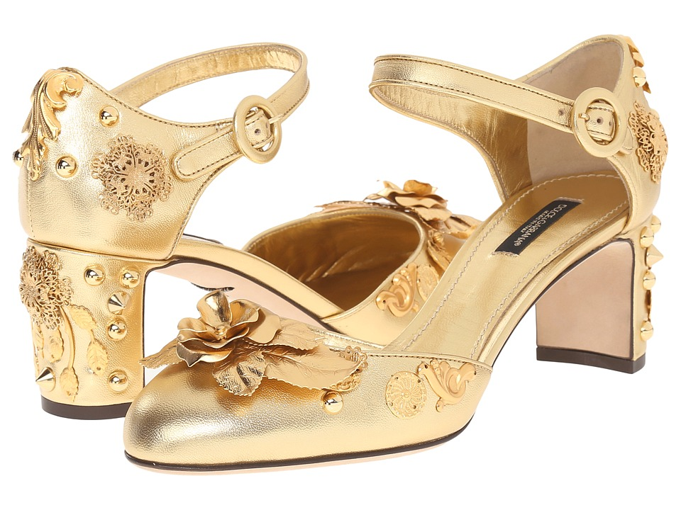Dolce & Gabbana - Pumps (Oro/Multi) Women's Shoes