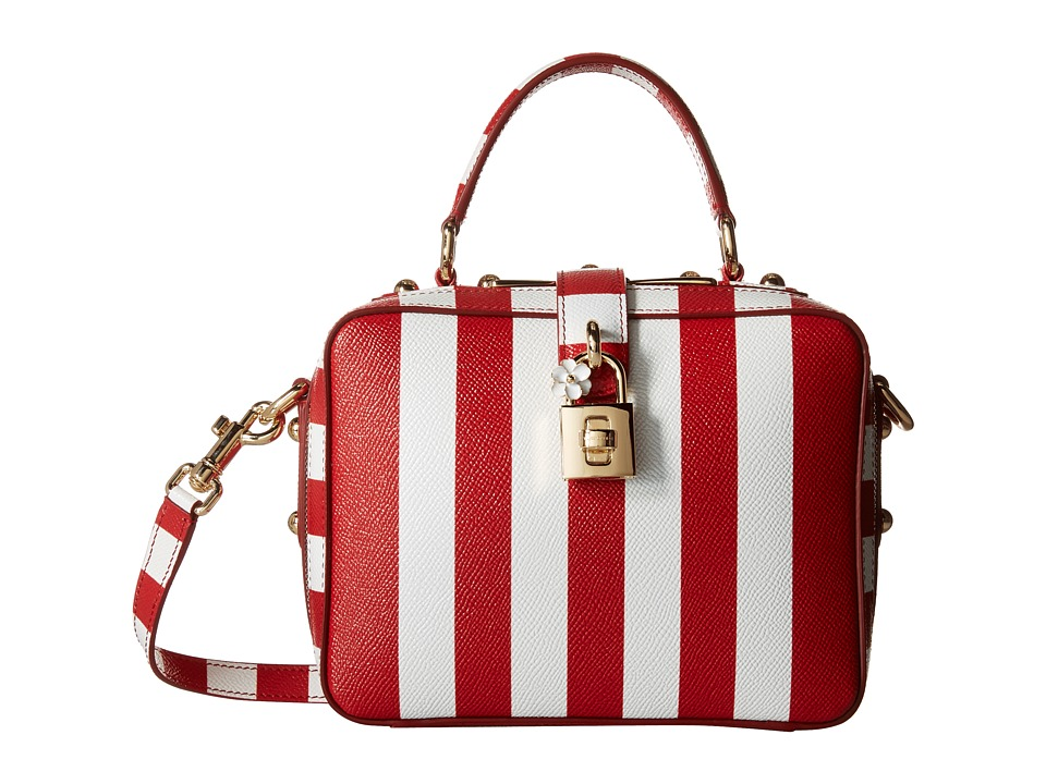 Dolce & Gabbana - Top Handle Handbag (Rosso/Bianco) Handbags