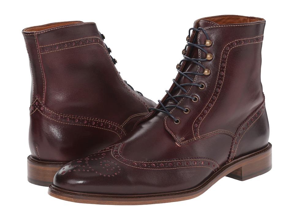 Massimo Matteo - 7-Eye Wing Boot (Bordo) Men's Shoes
