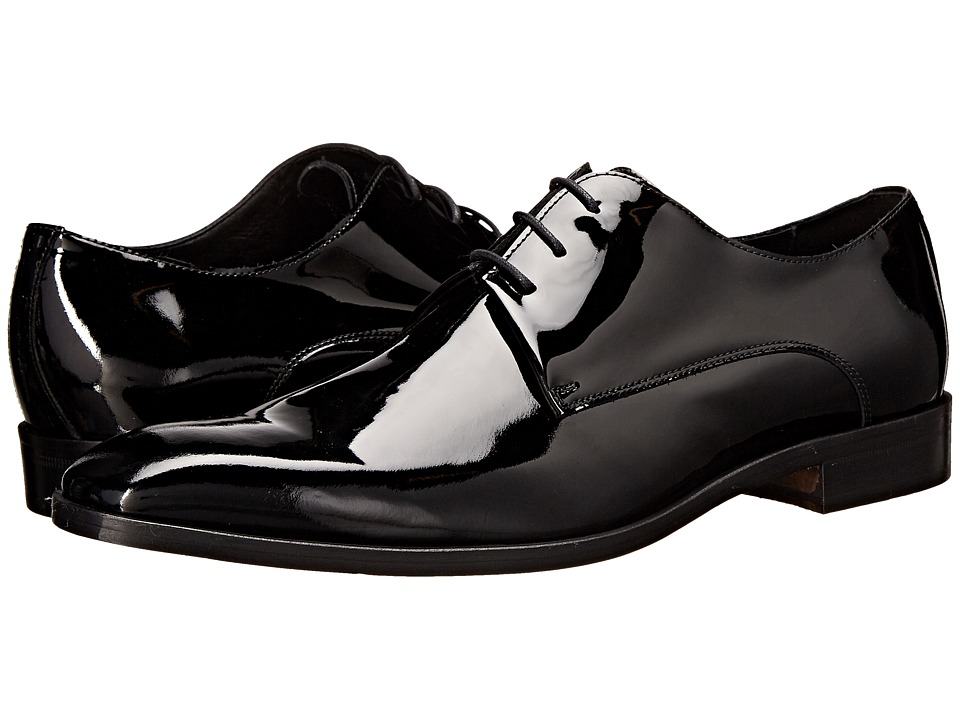 Massimo Matteo - 3-Eye Formal Blucher (Black) Men's Plain Toe Shoes