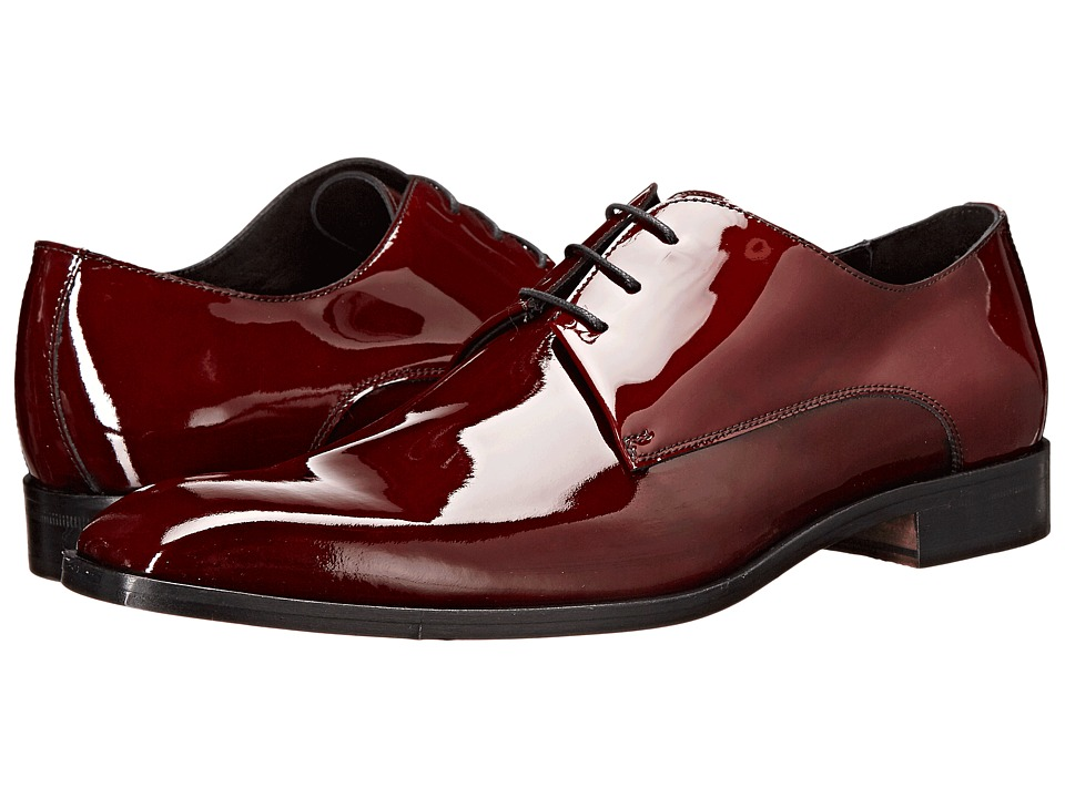 Massimo Matteo - 3-Eye Formal Blucher (Burgundy) Men's Plain Toe Shoes