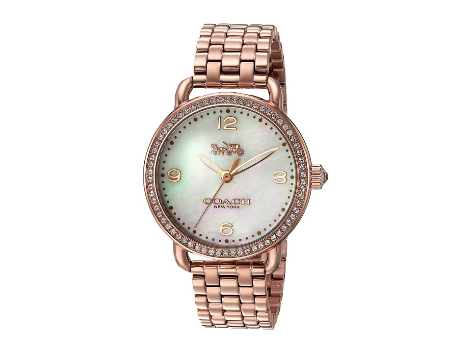 COACH - Delancey 36mm Bracelet (Rose Gold) Watches