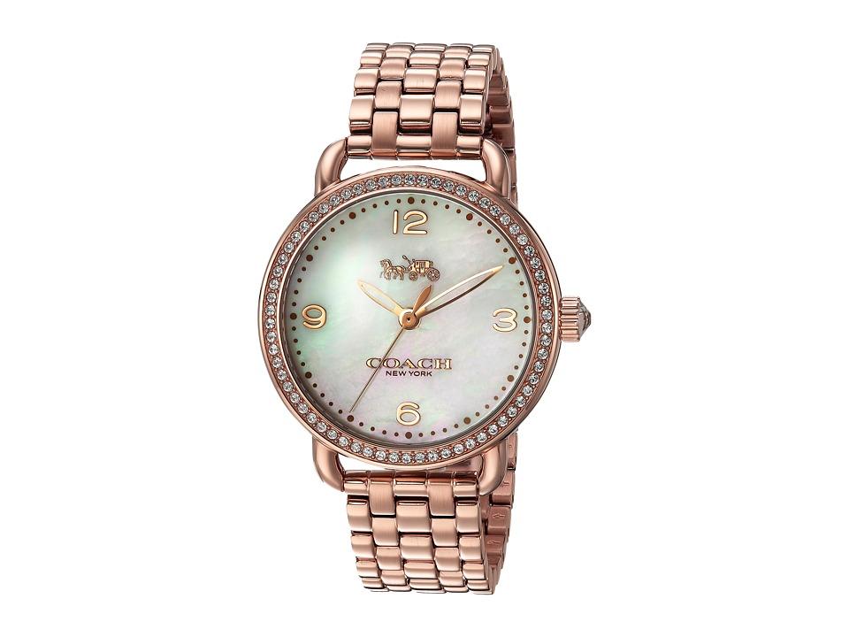 COACH - Delancey 36mm Bracelet (Rose Gold) Watches