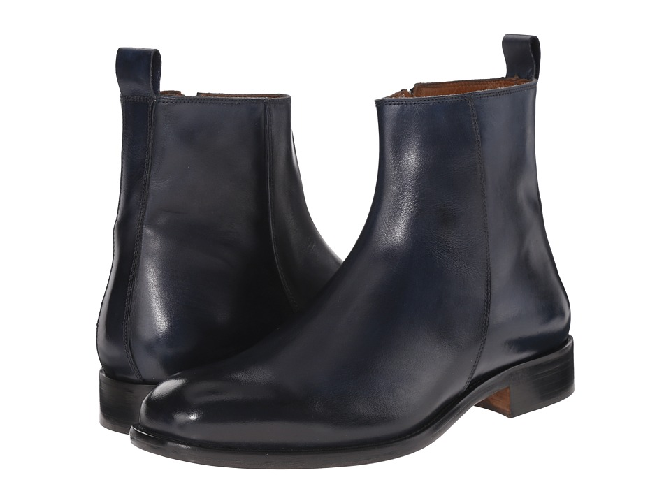 Massimo Matteo - Side Zip Boot (Navy) Men's Zip Boots