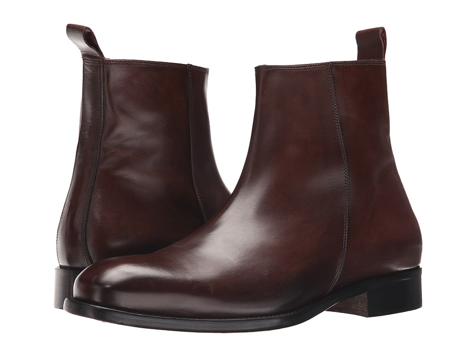 Massimo Matteo - Side Zip Boot (Brown) Men's Zip Boots