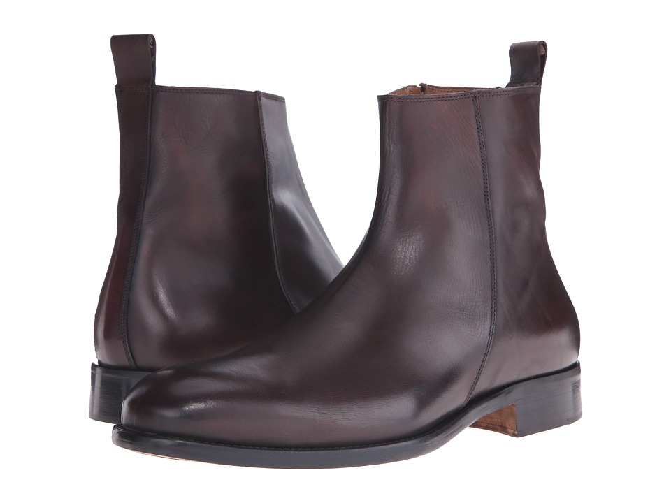 Massimo Matteo - Side Zip Boot (Burgundy) Men's Zip Boots