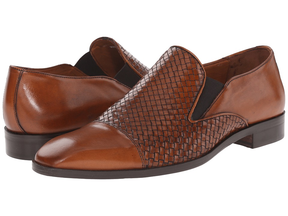 Massimo Matteo - Woven Cap Toe Loafer (Cuoio) Men's Slip on Shoes