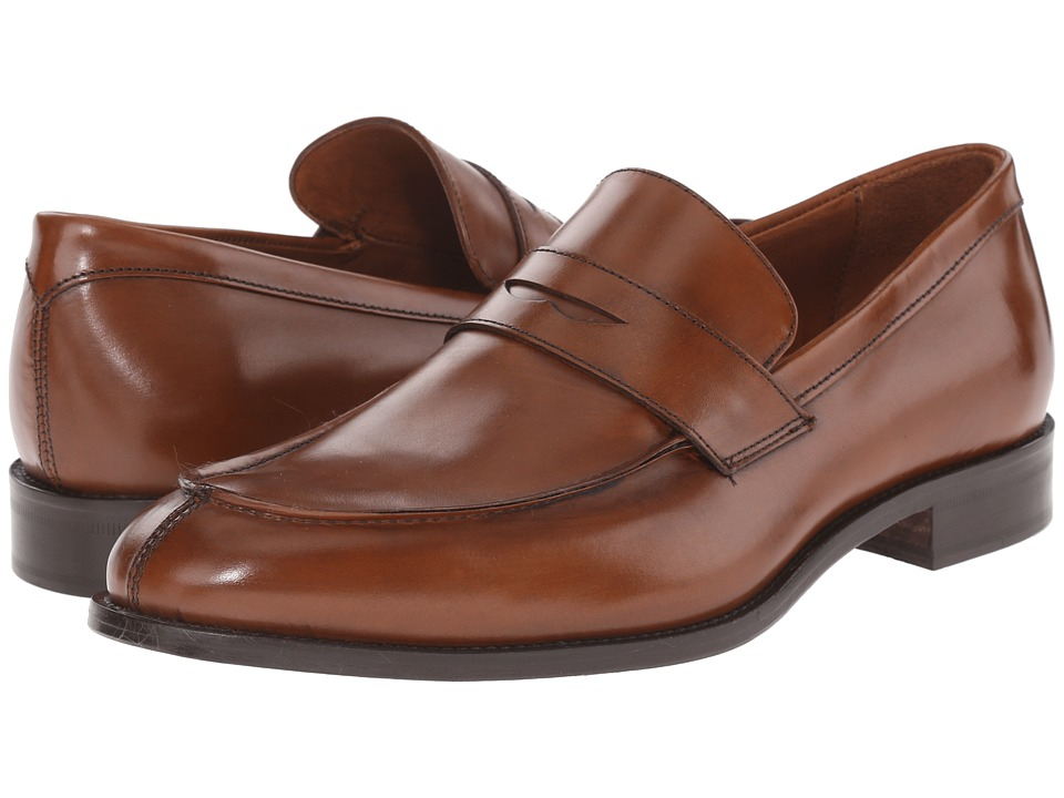 Massimo Matteo - Mocc Split Penny Loafer (Cuoio) Men's Slip on Shoes