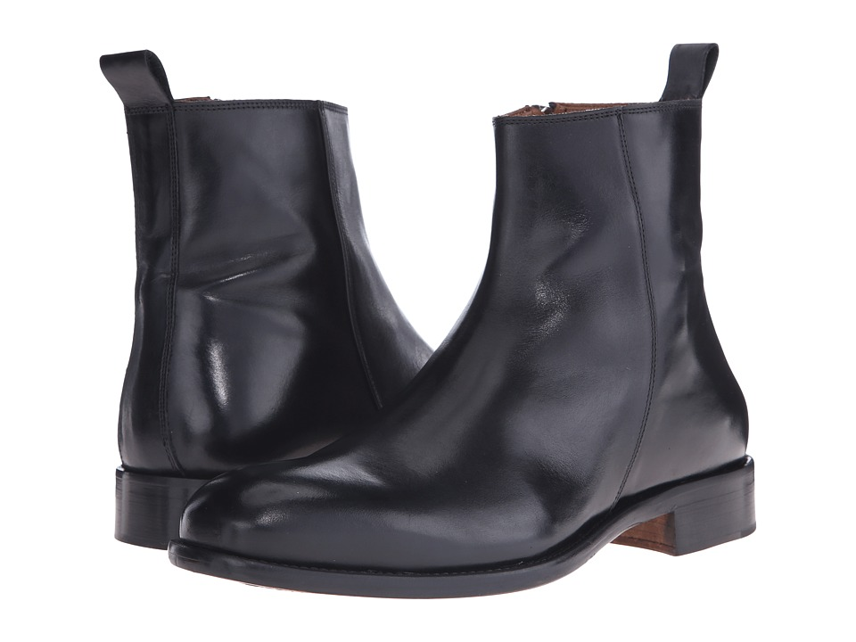 Massimo Matteo - Side Zip Boot (Black) Men's Zip Boots