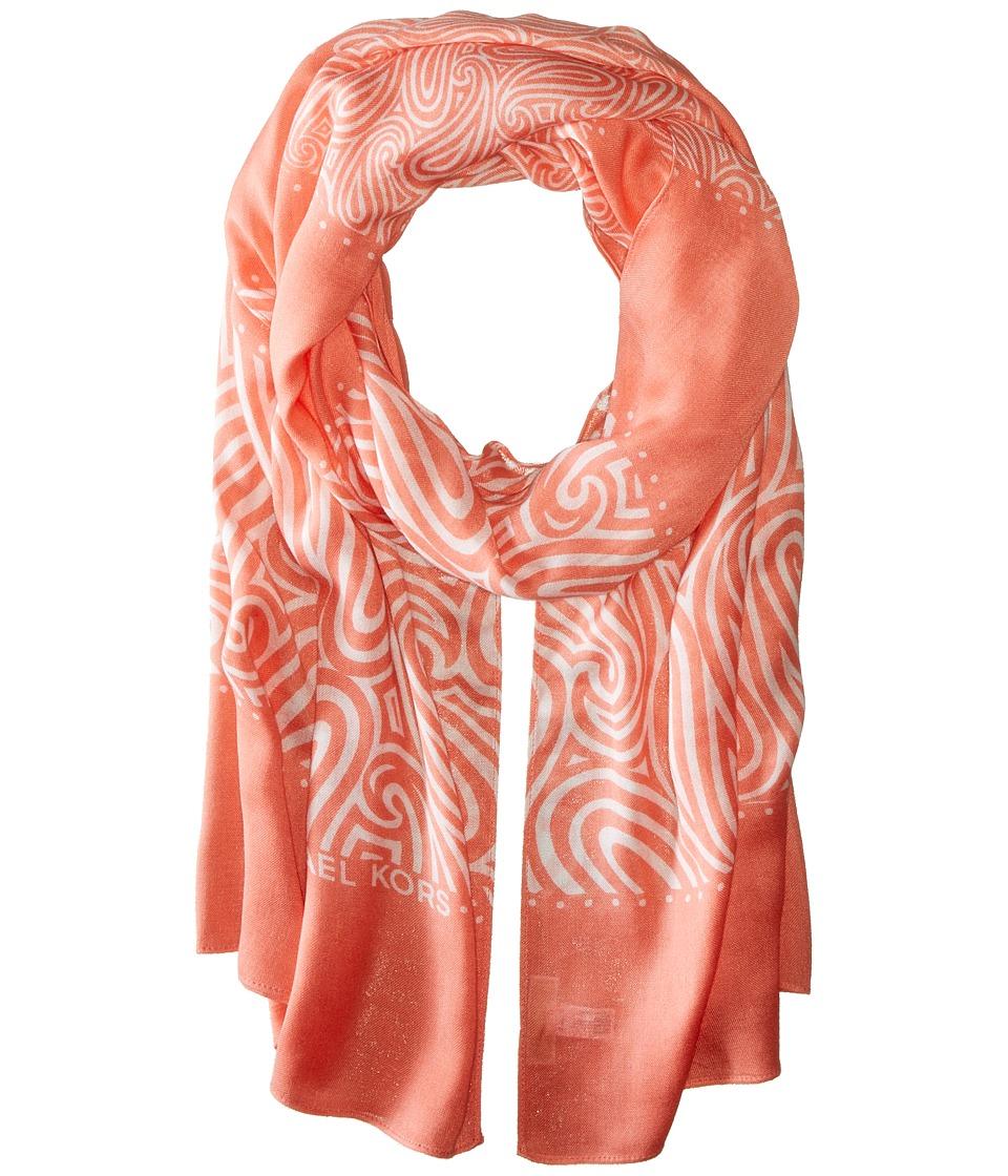 MICHAEL Michael Kors - Alamada Hagen Oblong (Caribbean Pink/White) Scarves