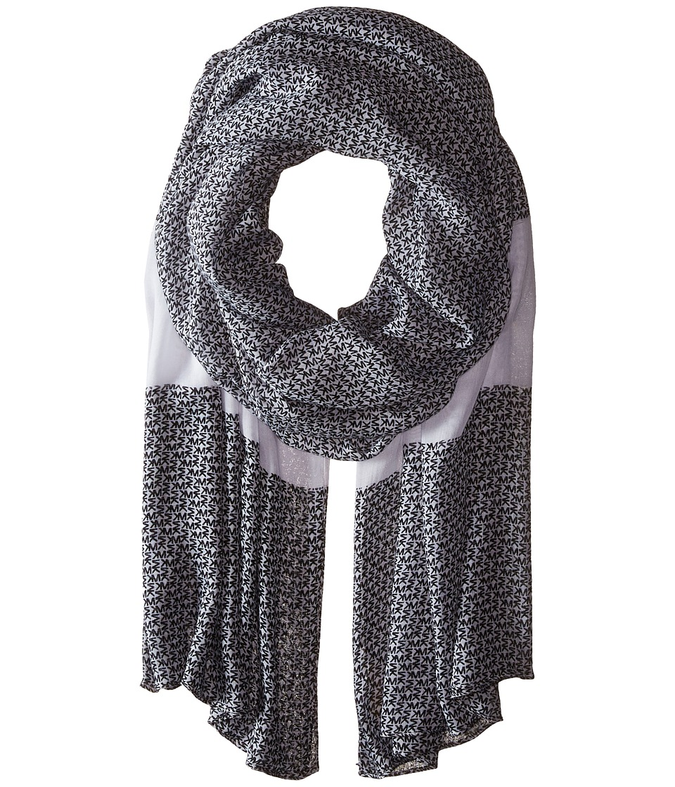 MICHAEL Michael Kors - Aberdine Logo Oblong (Black/White) Scarves
