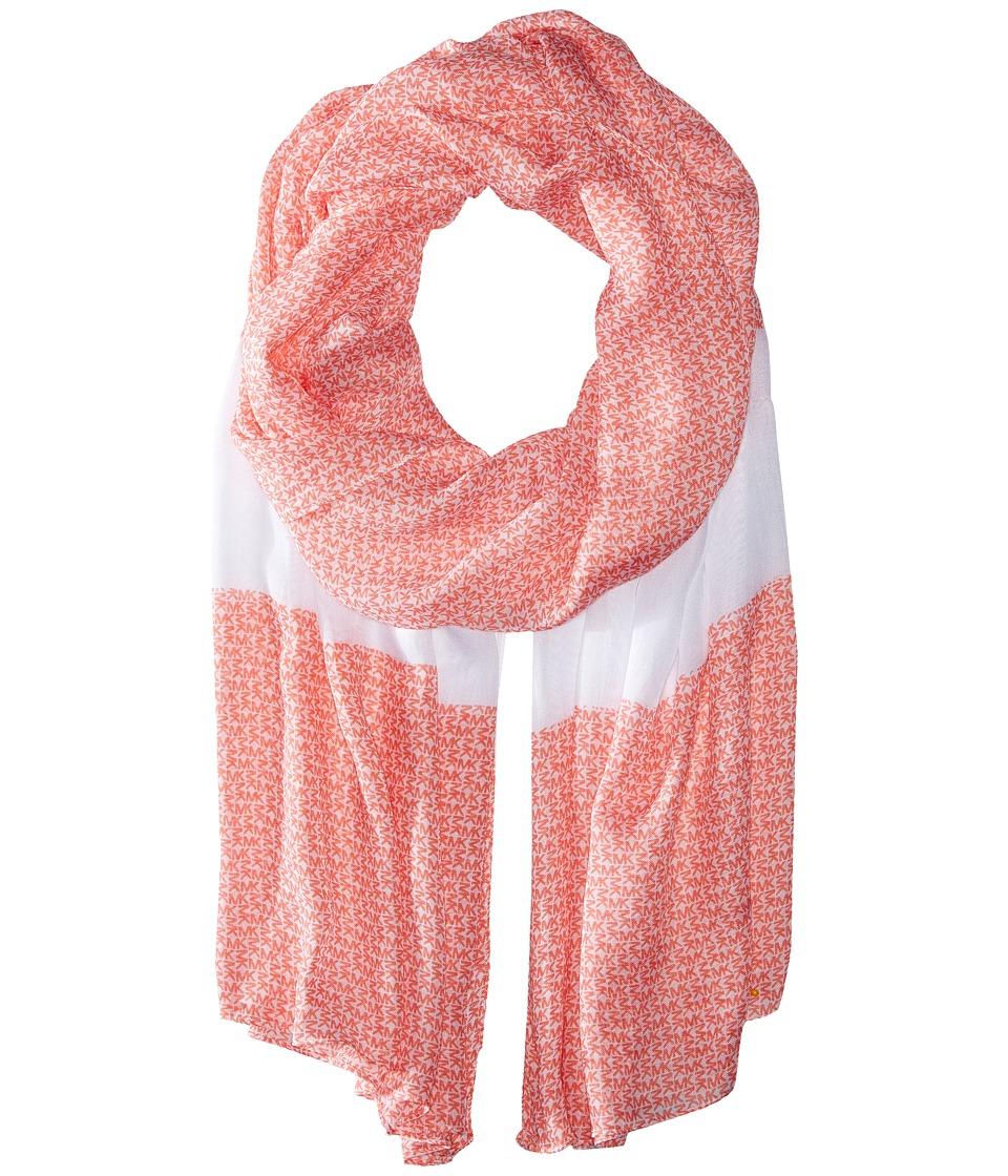 MICHAEL Michael Kors - Aberdine Logo Oblong (Caribbean Pink/White) Scarves