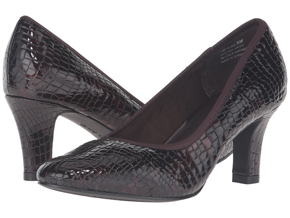 David Tate Peggy (Brown Croc Patent Print) Women