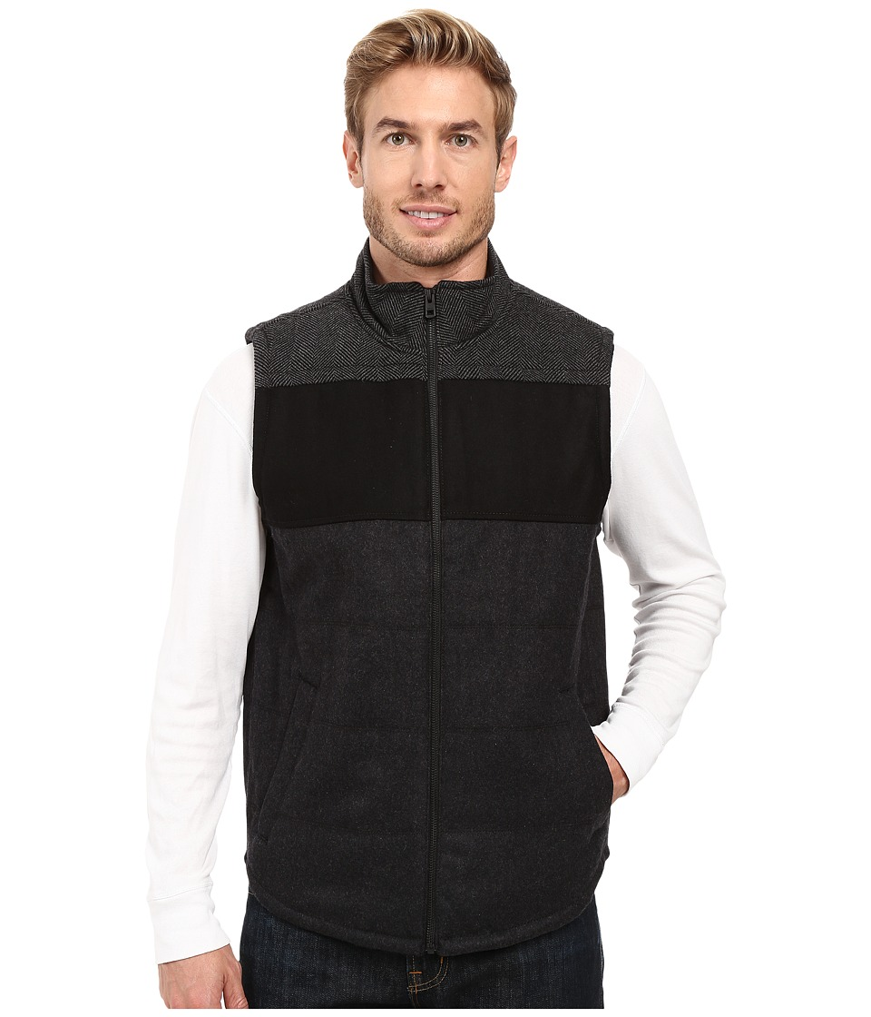 Prana - Wooley Vest (Black Heather) Men's Vest