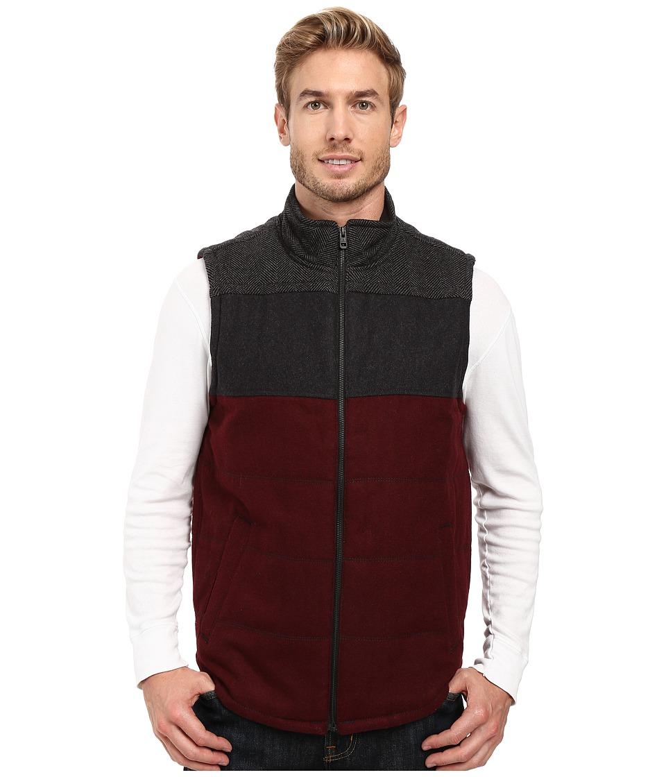 Prana - Wooley Vest (Dark Umber Heather) Men's Vest