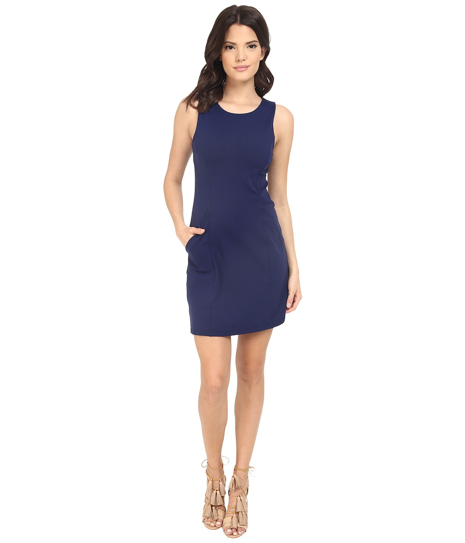 Susana Monaco Sleeveless Pocket Shift Dress (Inkwell) Women