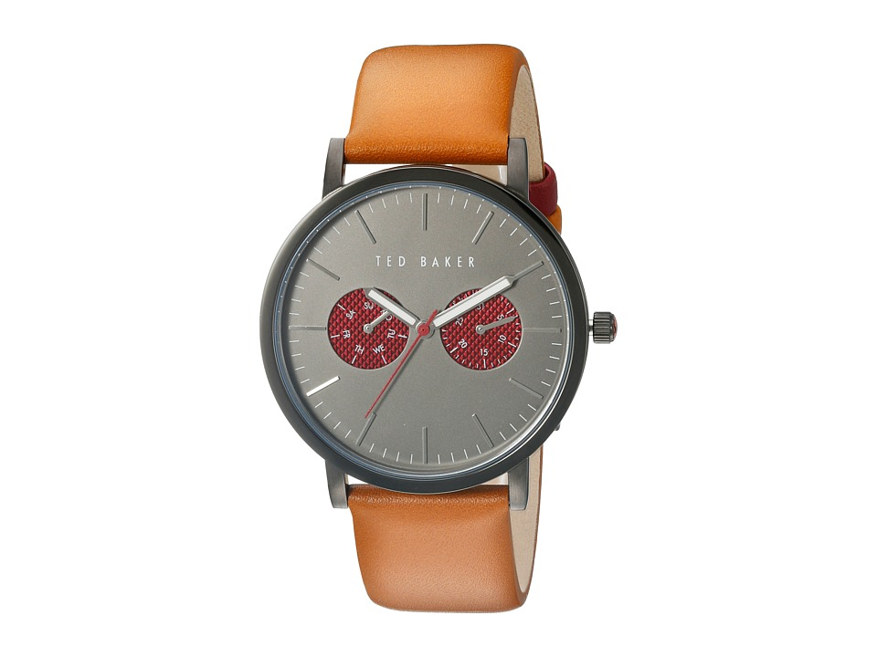 Ted Baker - Smart Casual Leather (Gunmetal Grey) Watches