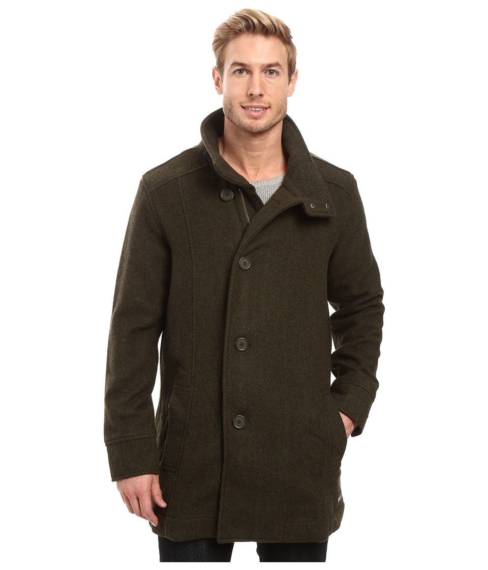 Prana - Winter Peacoat (Dark Green Heather) Men's Coat