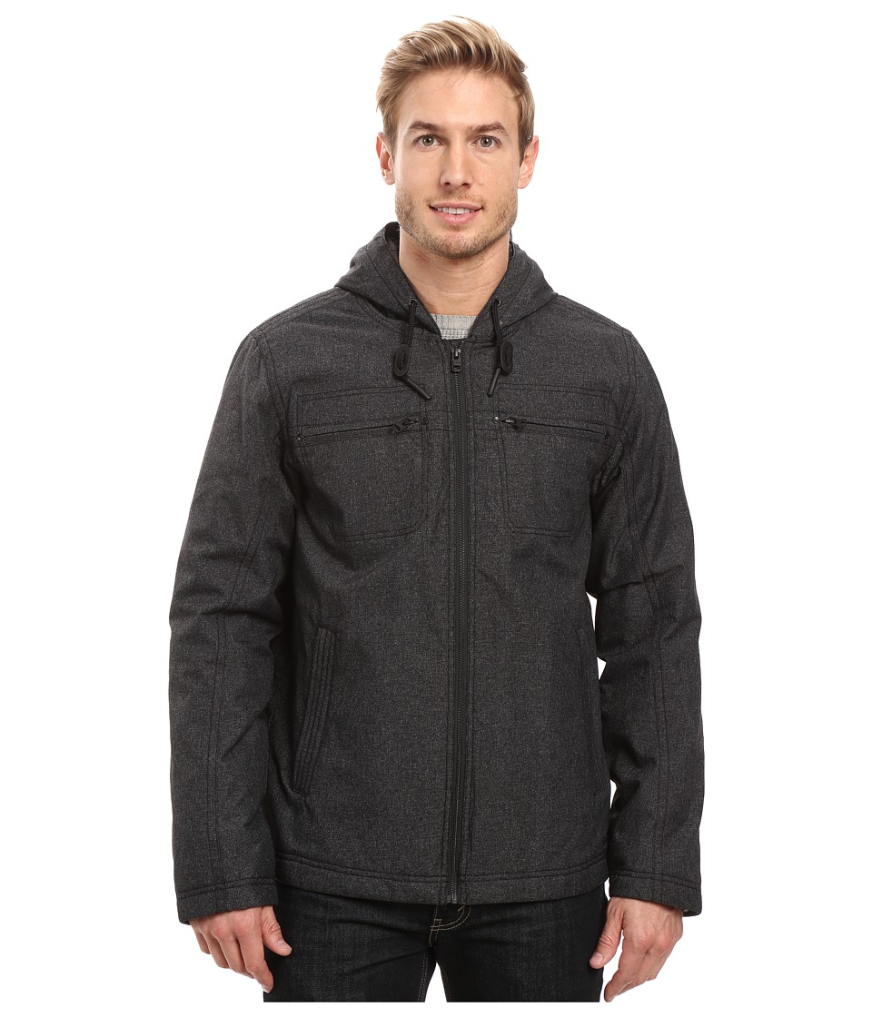 Prana - Holmes Jacket (Black Heather) Men's Coat